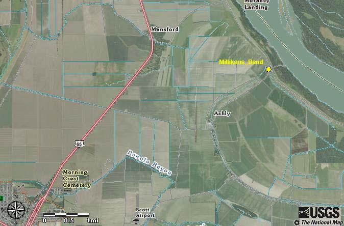 Former site of Milliken's Bend